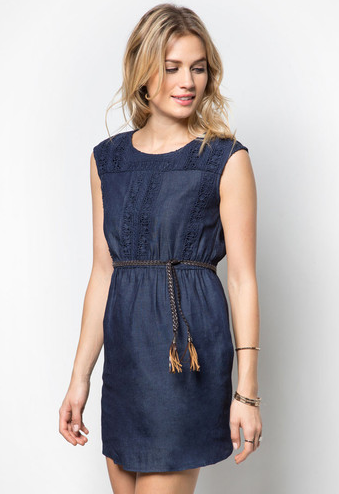 zalora embroidered dress